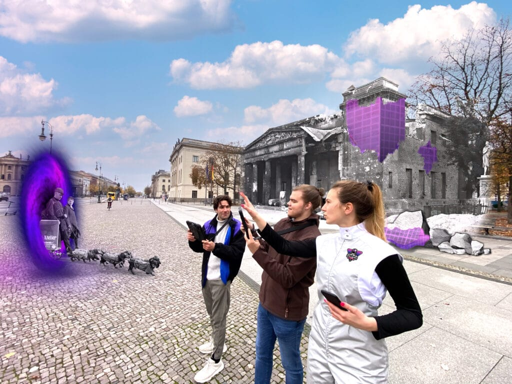 Tour Guides with Portal in front of Neue Wacher Berlin Version 2